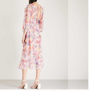 TOPSHOP Floral sheer maxi dress SZ 6